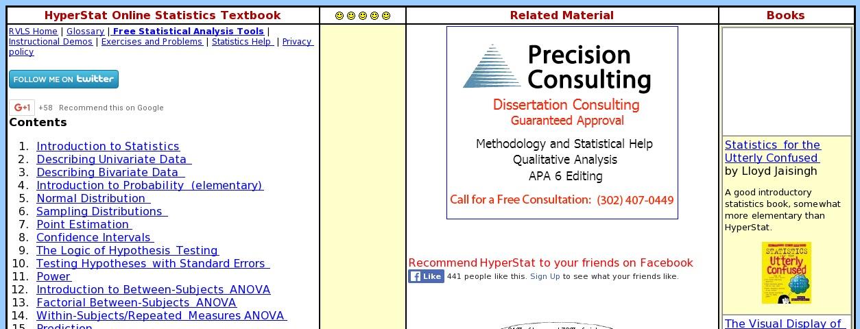 HyperStat Online Textbook   Curriki