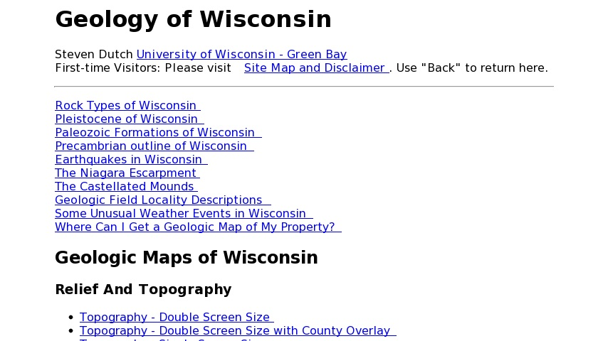 Niagara Escarpment Wisconsin Map.Geology Of Wisconsin Curriki
