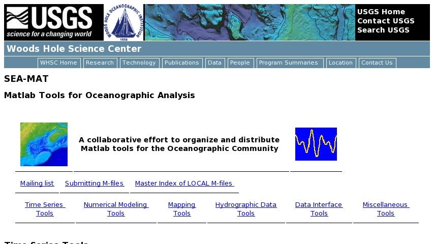 SEA-MAT: Matlab Tools for Oceanographic Analysis | Curriki
