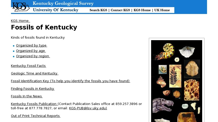 Fossils of Kentucky | Curriki