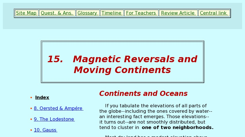 Magnetic Reversals and Moving Continents   Curriki