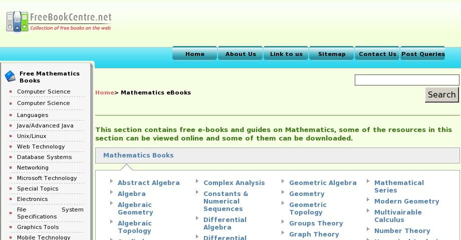 Free online mathematics books | Curriki