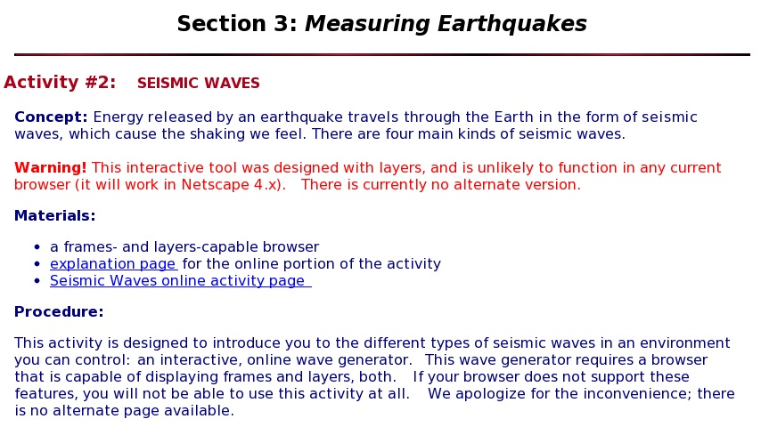 Seismic Waves | Curriki