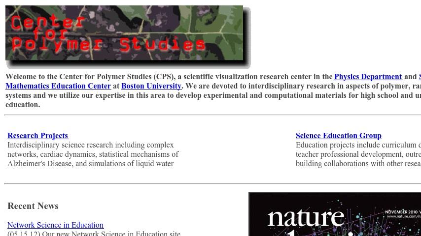 Boston University: Center for Polymer Studies | Curriki