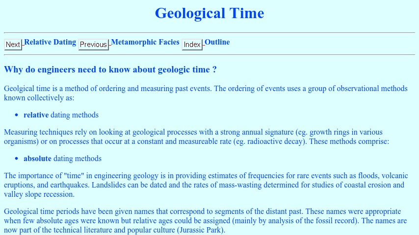 Geologic dating techniques