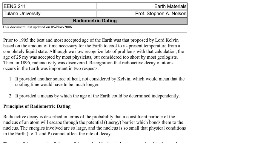 what is the principle behind radiometric dating