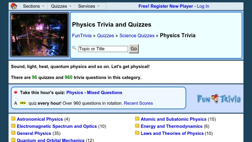 Physics Quizzes and Physics Trivia | Curriki