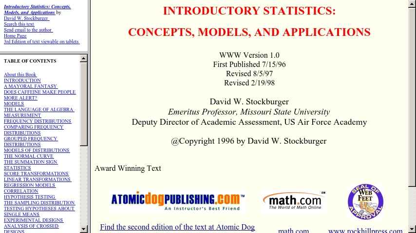 Introductory Statistics: Concepts, Models, and Applications