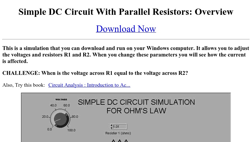 Simple LabVIEW DC Circuit Simulation With Parallel Resistors