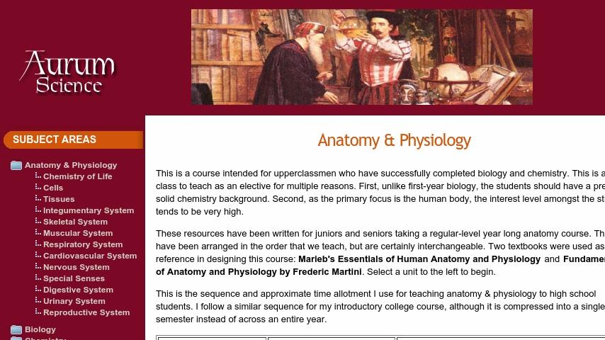 Aurum Science Anatomy Full Curriculum Curriki
