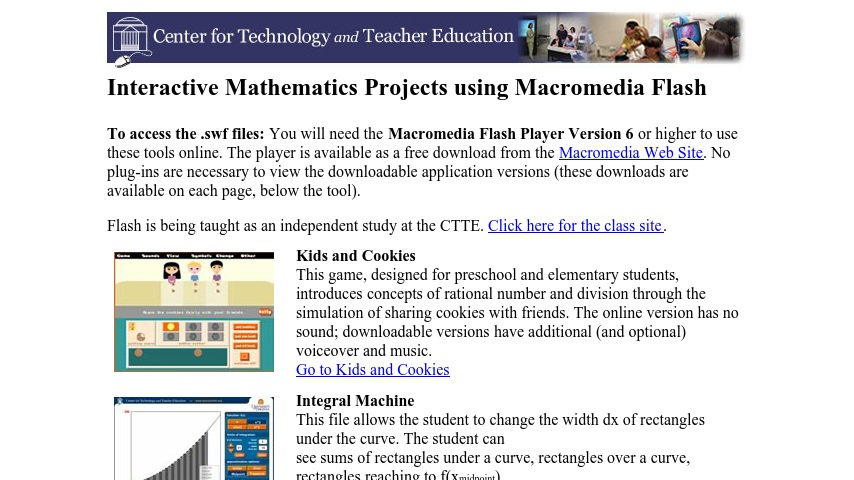 Interactive Mathematics Projects using Macromedia Flash | Curriki