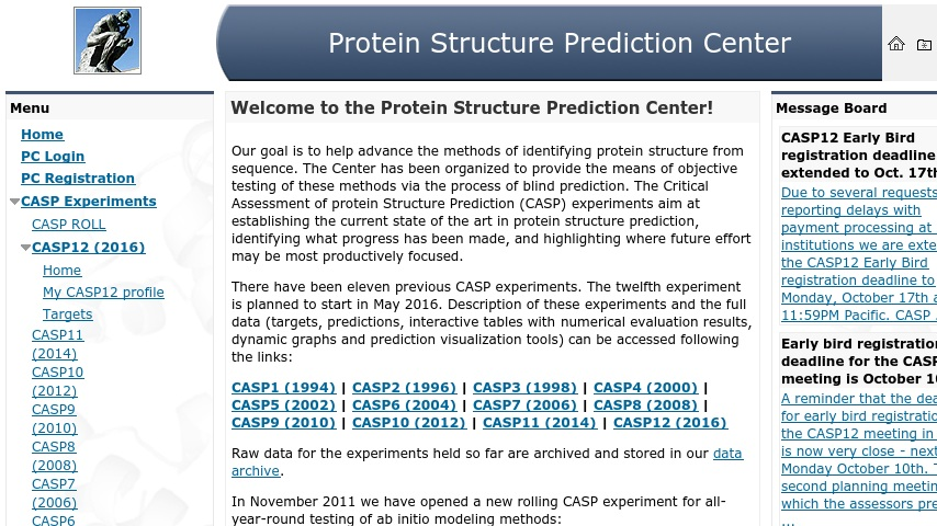 Protein Structure Prediction Center | Curriki