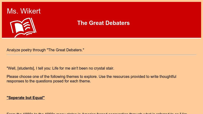 the great debaters theme