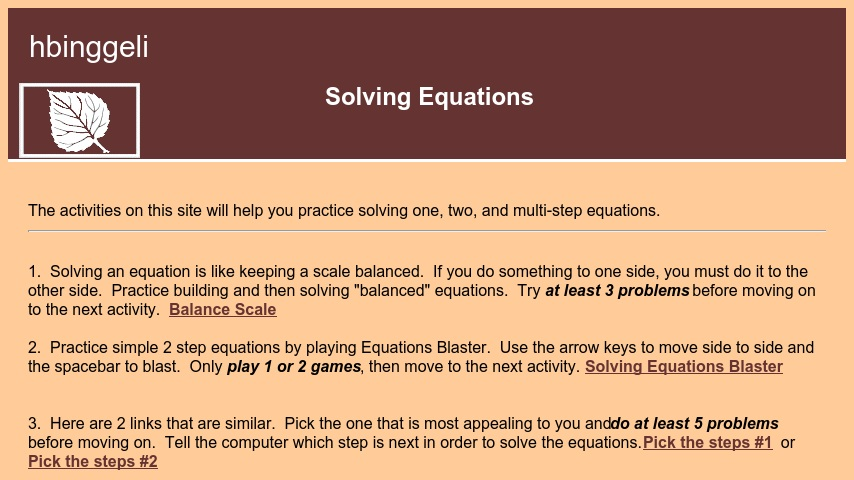 Solving Equations | Curriki