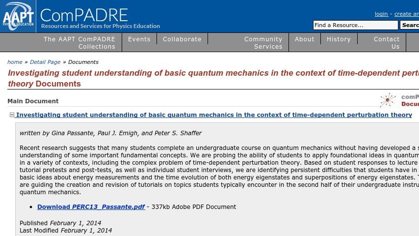 Investigating student understanding of basic quantum mechanics in