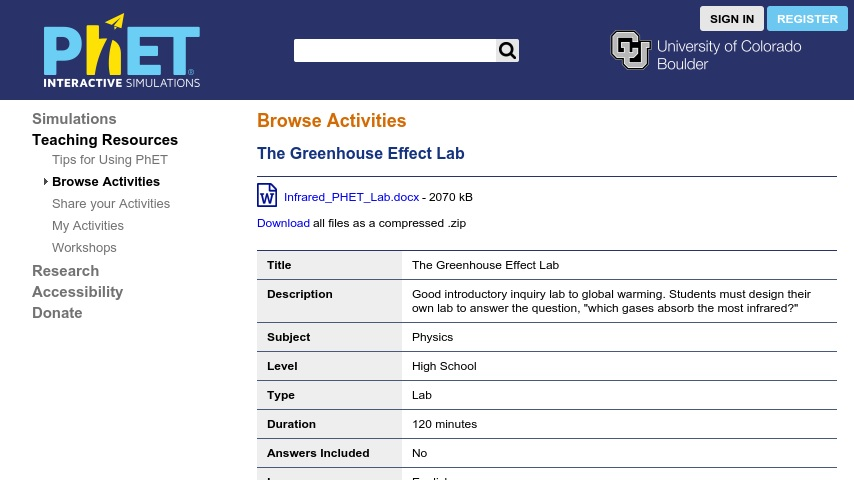 phet greenhouse effect