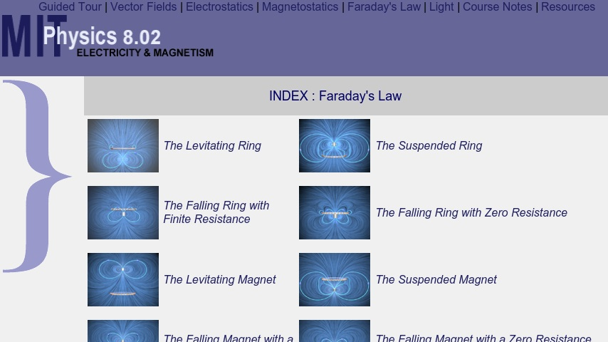 MIT Physics 8 02 - Faraday's Law Visualizations   Curriki