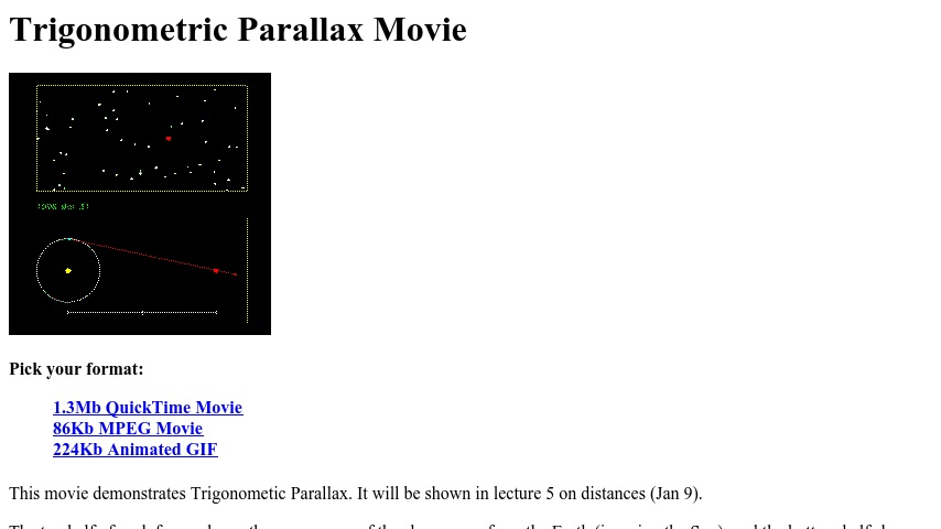 Trigonometric Parallax Movie | Curriki