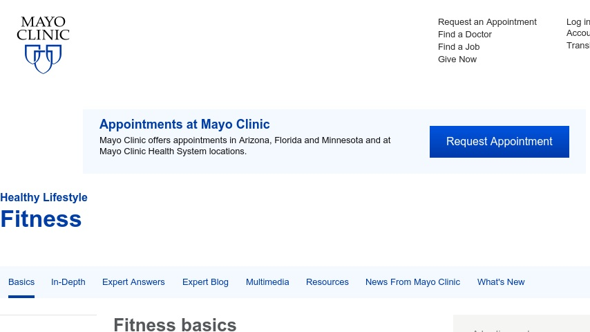 Mayo Clinic: Fitness Center | Curriki