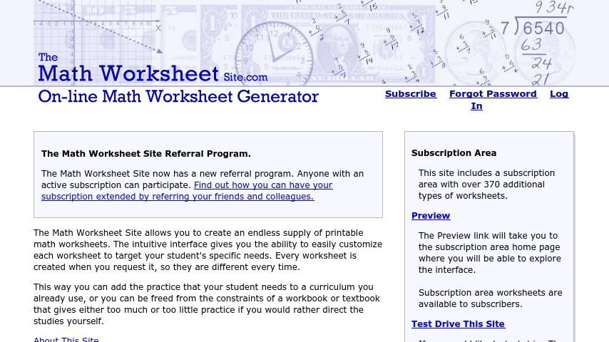 The Math Worksheet Site | Curriki