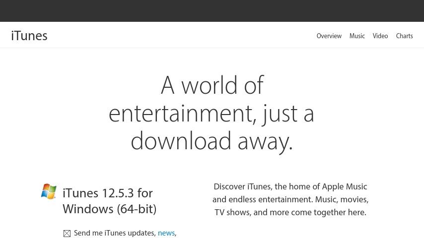 www.apple.com/es/itunes/download 64 bits