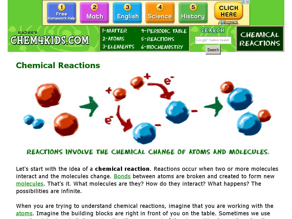 Chemical Reactions Curriki