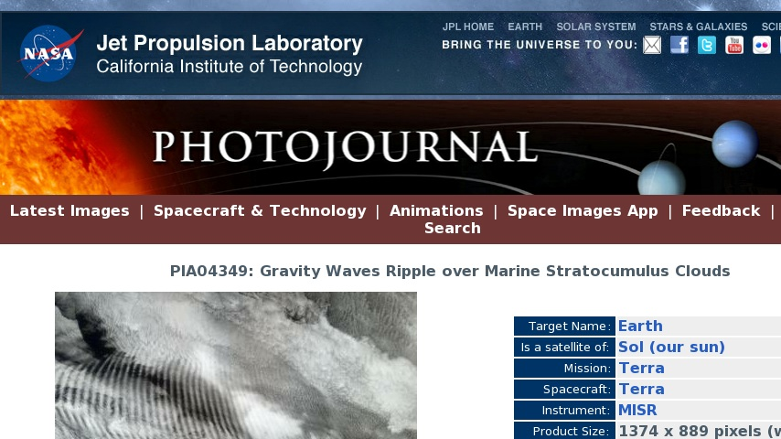 Gravity Waves Ripple over Marine Stratocumulus Clouds   Curriki