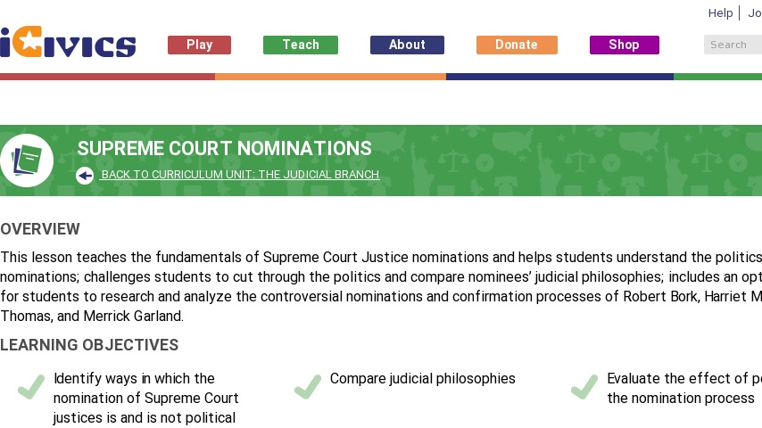 Supreme Court Nominations Worksheet Answers - Geotwitter ...