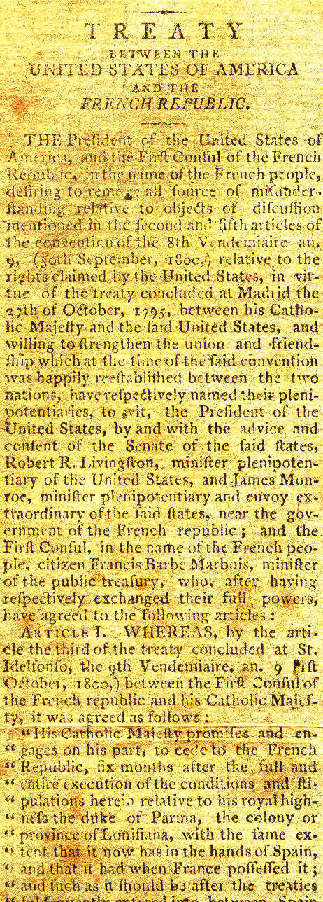 Louisiana Purchase- original document