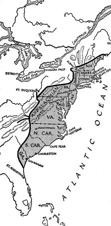 FrontierLine, Colonies 1774