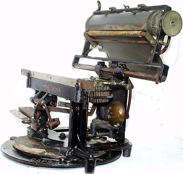 1894 Edison Mimeograph Typewriter Carriage Up OM