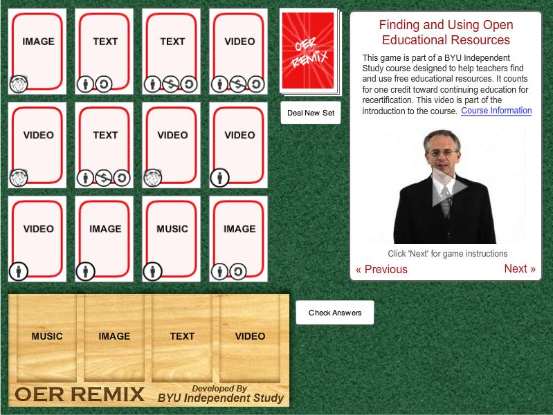 OERi Remix Game Image