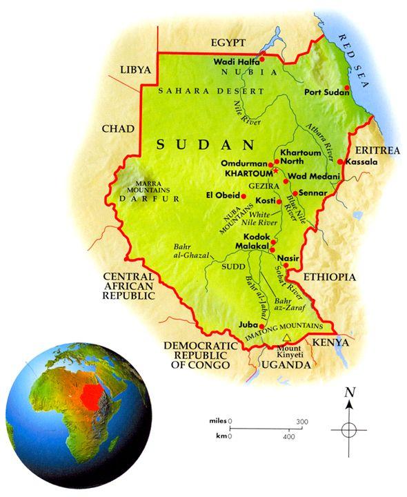 Sudan Geo-Political Map