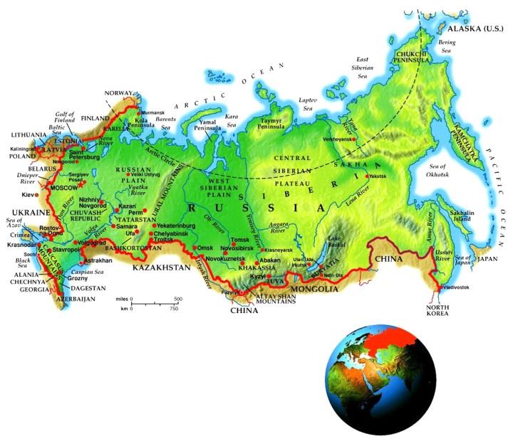 Russia Geo-Political Map