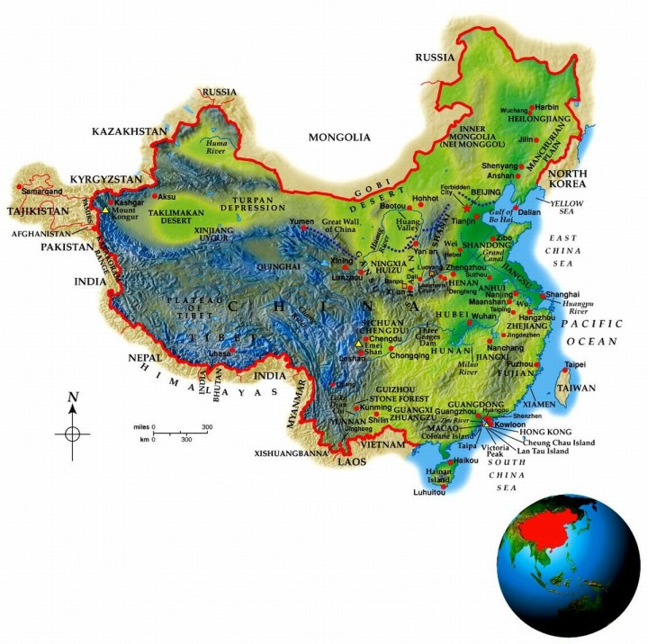 China Geo-Political Map