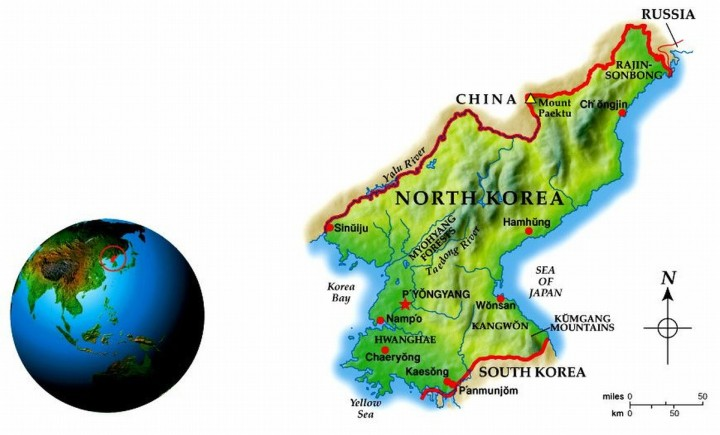 North Korea Geo-Political Map