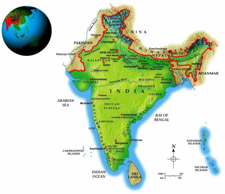India Geo-Political Map