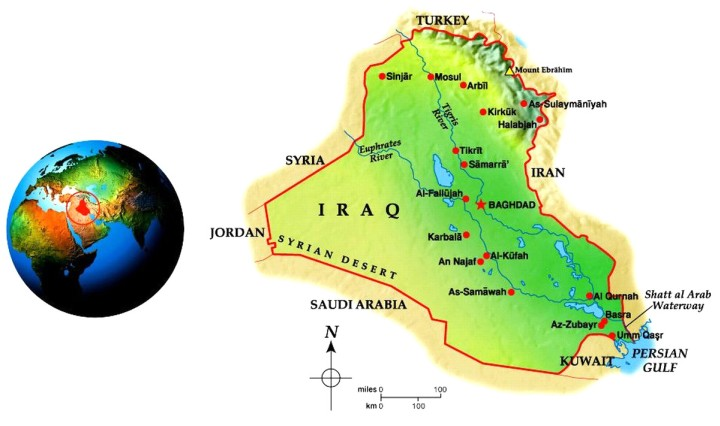 Iraq Geo-Political Map