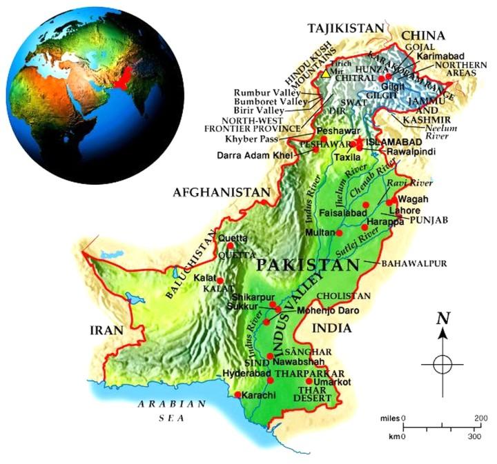 Pakistan Geo-Political Map