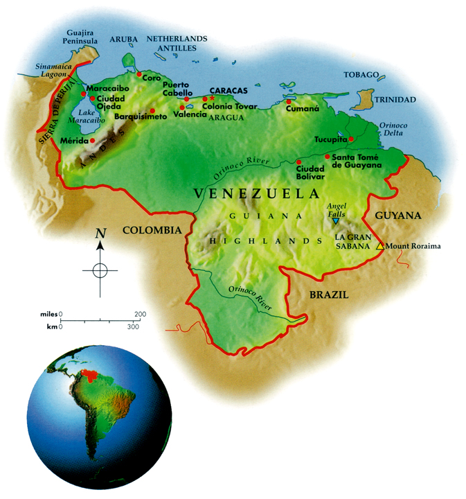 Venezuela Geo-Political Map
