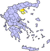 Map of Stageira (Aristotle's birthplace)