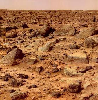 Mars' Rocky Surface
