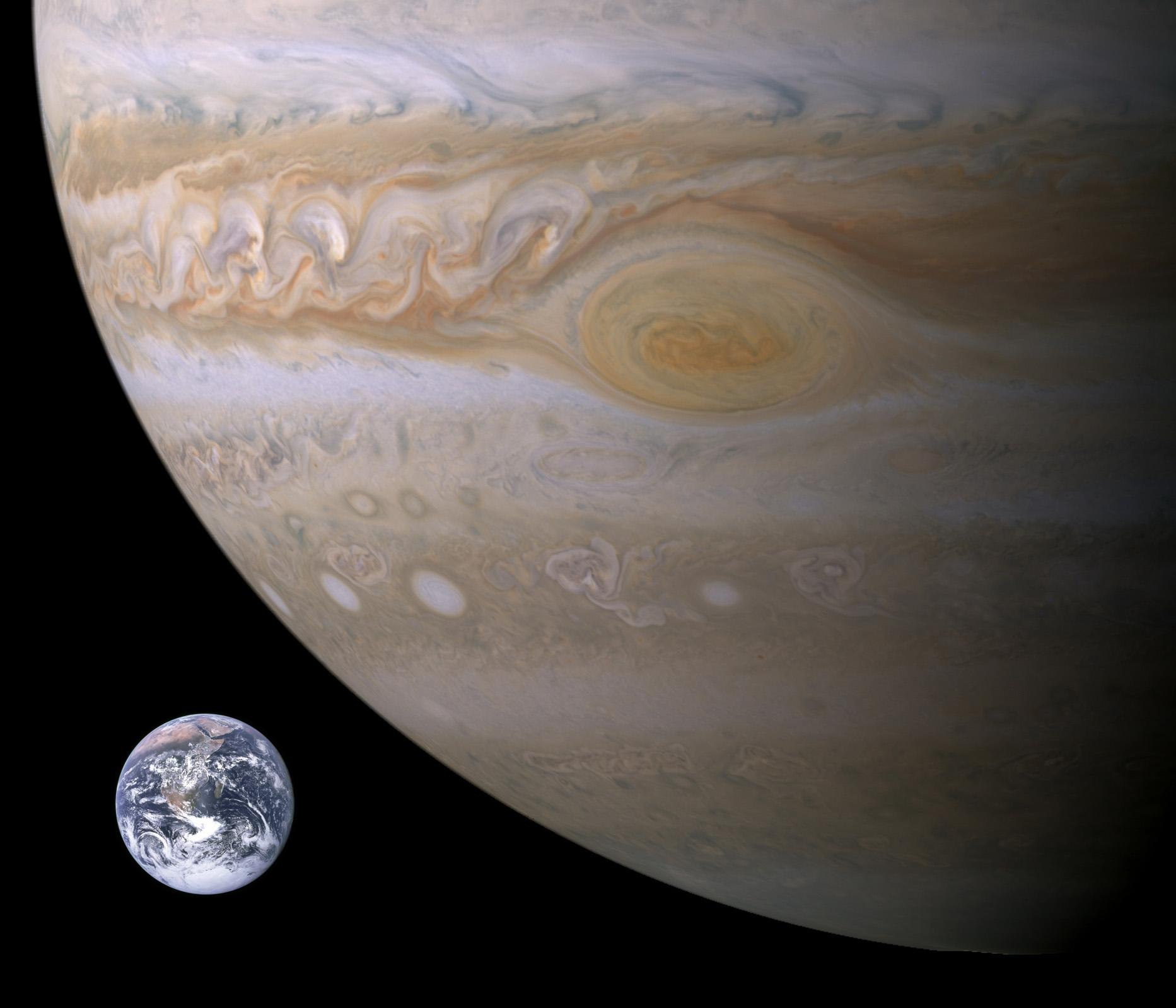 Jupiter Compared to Earth
