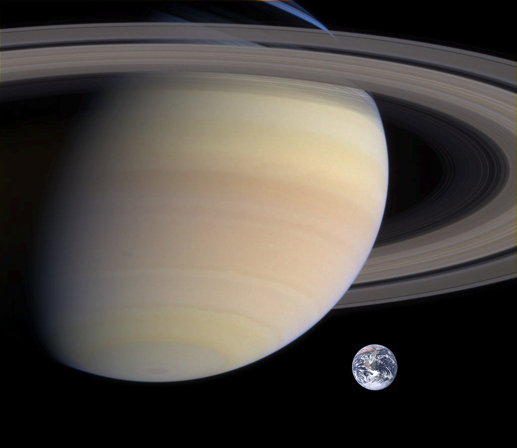 Saturn to Earth Comparison