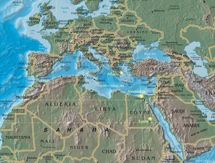 Eratosthenes Map