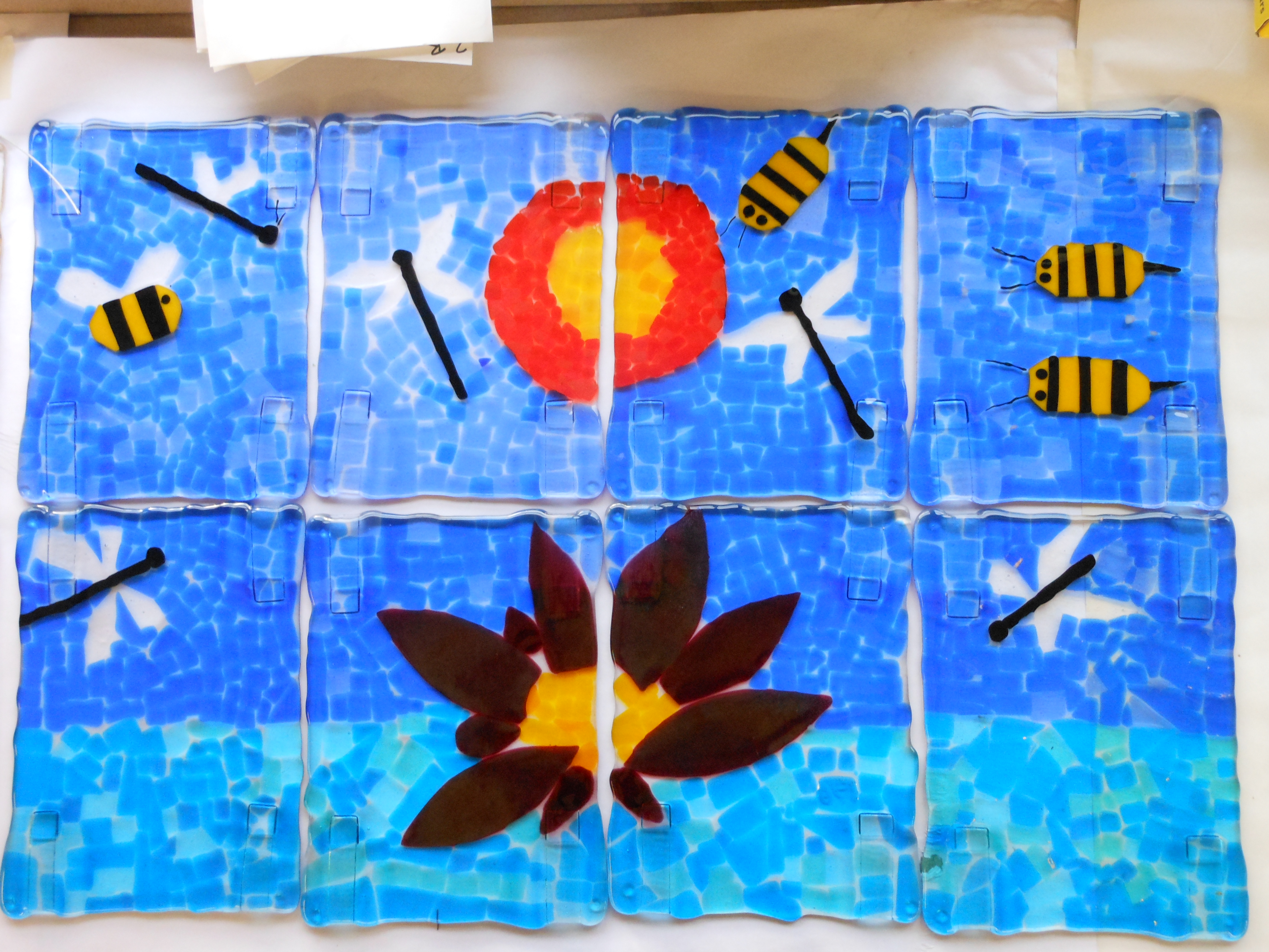Step 2 of fused glass project