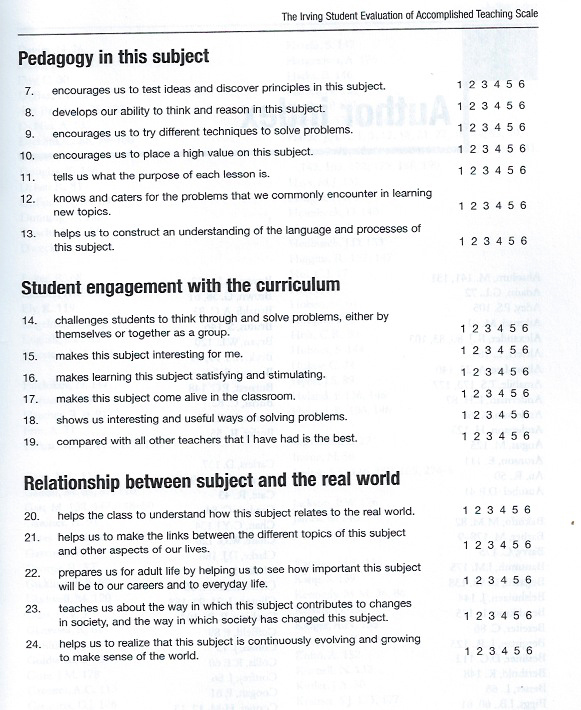 Student Evaluation p. 2