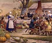 first-thanksgiving-pilgrims-plymouth-meal-398x336.jpg
