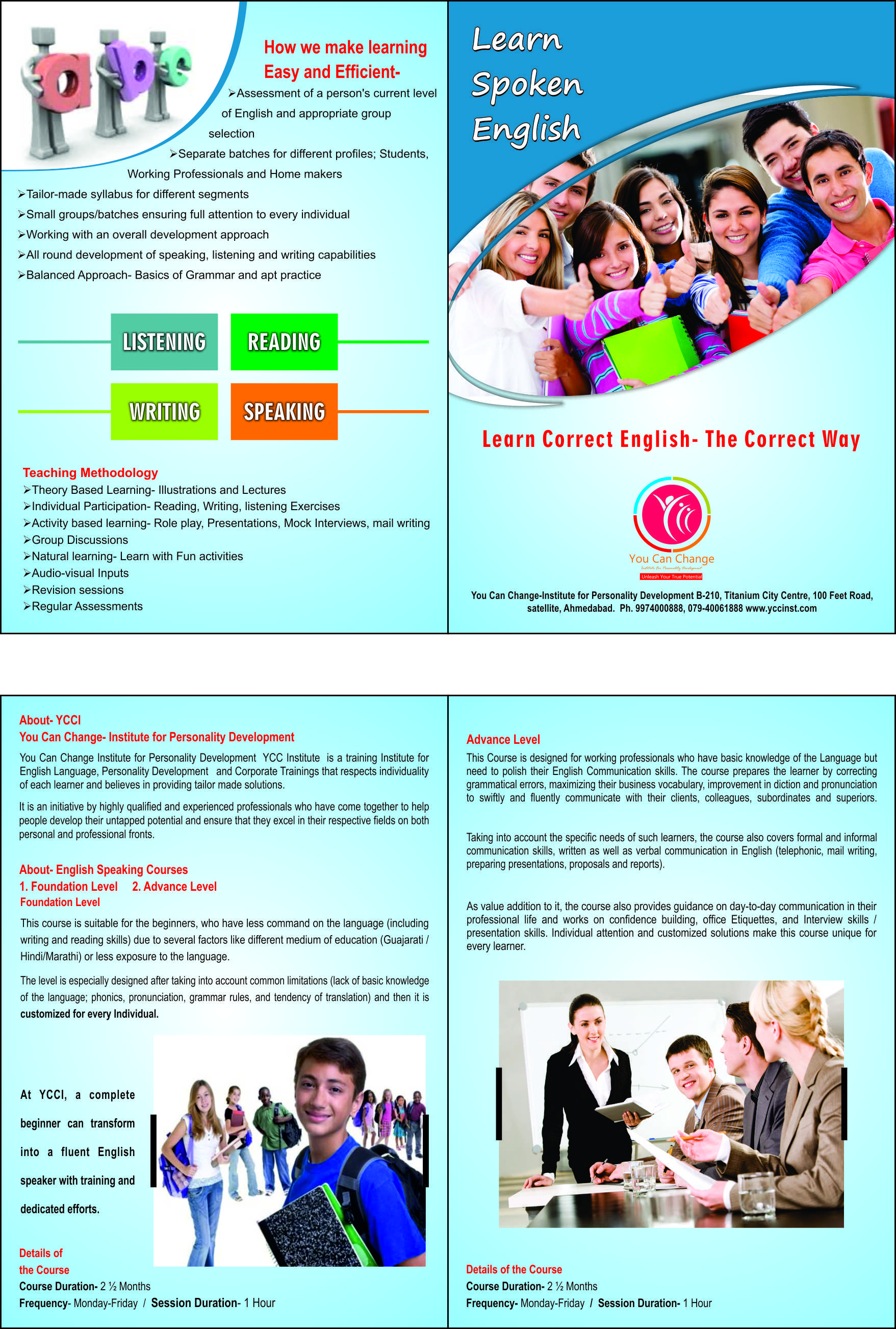 Learn to speak English at YCCI, Ahmedabad